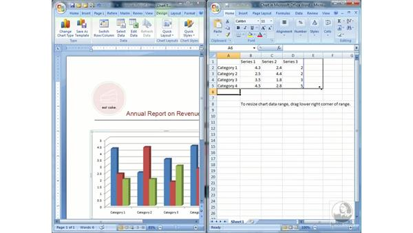 Creating charts: Word 2007 Essential Training