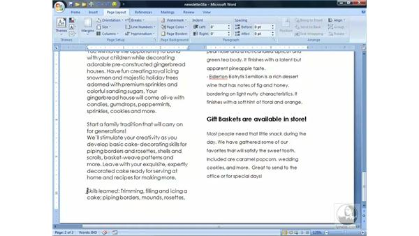 Working with Newspaper Columns: Word 2007 Essential Training
