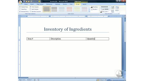 Working with Parallel Columns: Word 2007 Essential Training
