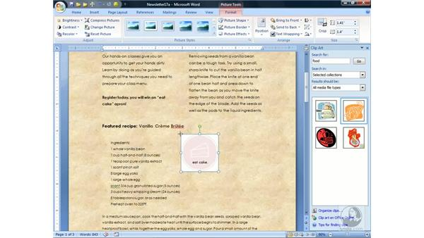 Working with Pictures and Clip Art: Word 2007 Essential Training
