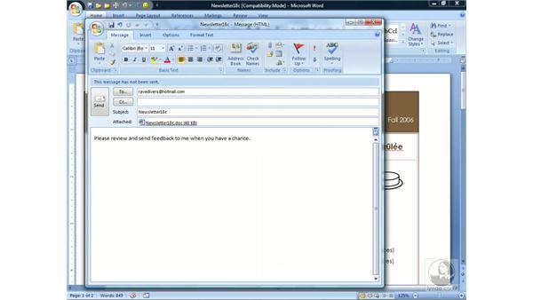 Sending and faxing documents: Word 2007 Essential Training
