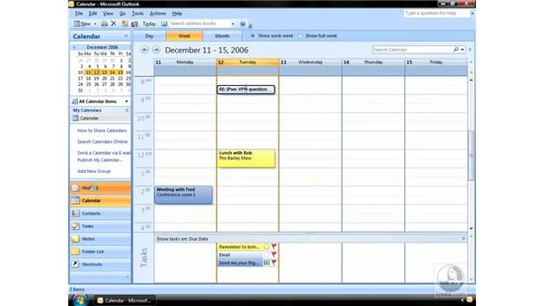 Dragging messages to create other items: Outlook 2007 Essential Training