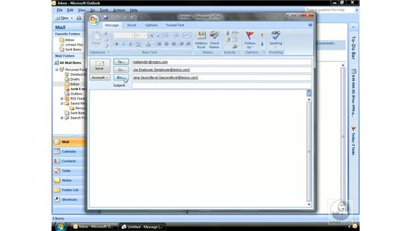 Addressing email: Outlook 2007 Essential Training