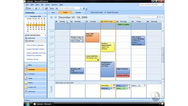 Viewing the Calendar: Outlook 2007 Essential Training