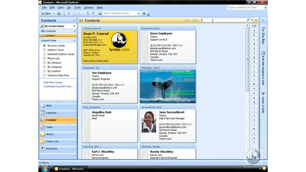 Searching for Contacts: Outlook 2007 Essential Training