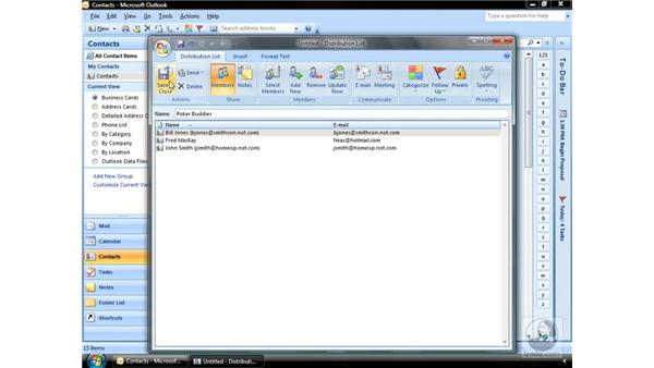 Creating Distribution Lists: Outlook 2007 Essential Training