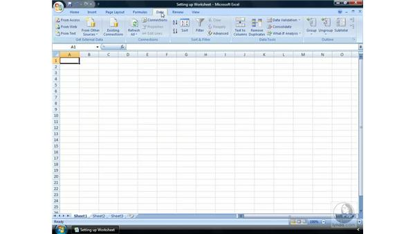 Making your way around the Ribbon: Excel 2007 Essential Training