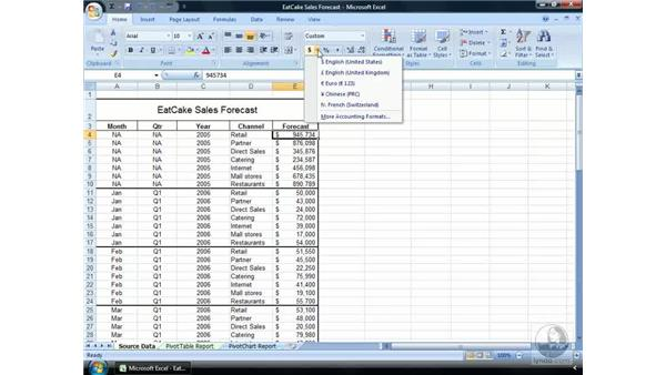 Numeric formats: Excel 2007 Essential Training
