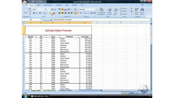 Playing with fonts: Excel 2007 Essential Training