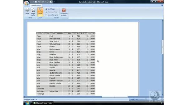 Preparing to print: Excel 2007 Essential Training
