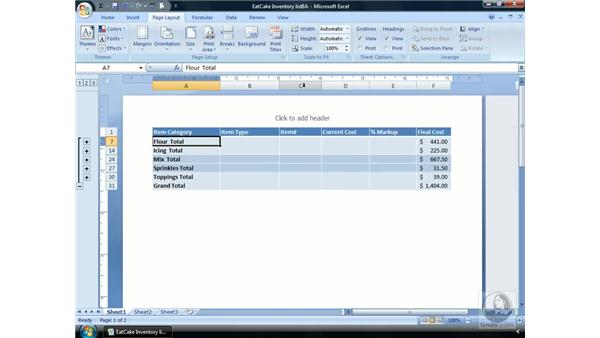 The Page Layout View: Excel 2007 Essential Training