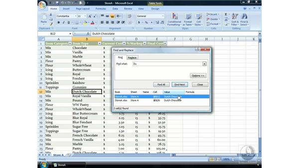 The Find and Select button: Excel 2007 Essential Training