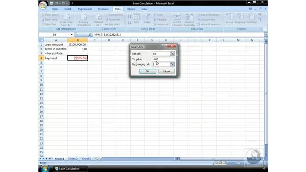 What-If Analysis: Excel 2007 Essential Training