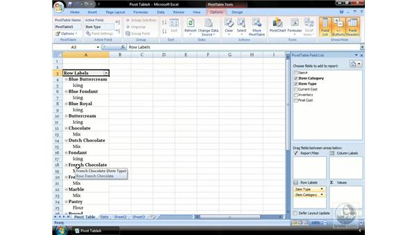 Creating a PivotTable: Excel 2007 Essential Training