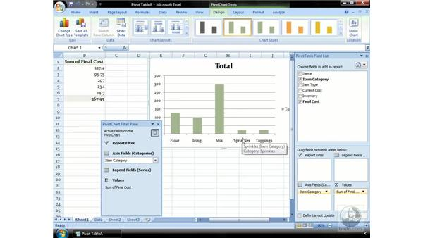Creating a PivotChart: Excel 2007 Essential Training