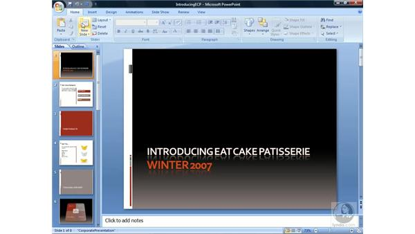 Understanding the interface: PowerPoint 2007 Essential Training