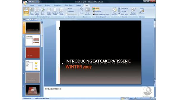 Navigating the interface: PowerPoint 2007 Essential Training