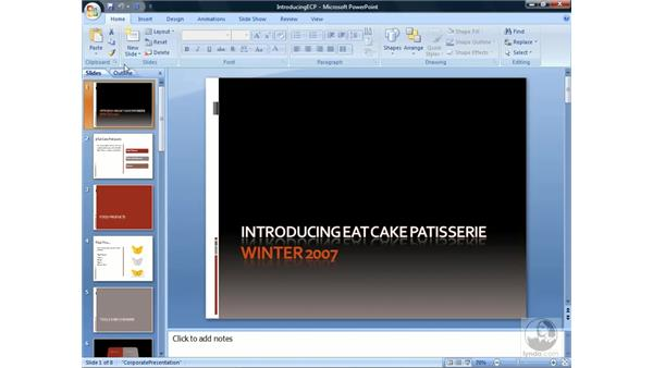Adding and removing slides: PowerPoint 2007 Essential Training