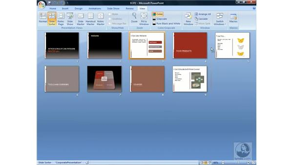 Rearranging slides: PowerPoint 2007 Essential Training