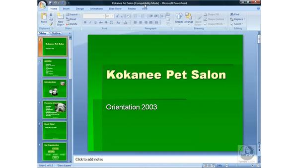 Opening other files in PowerPoint: PowerPoint 2007 Essential Training