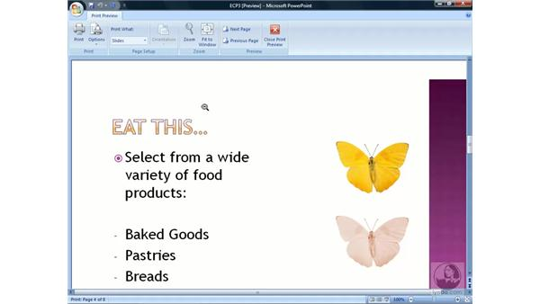 Using Print Preview: PowerPoint 2007 Essential Training