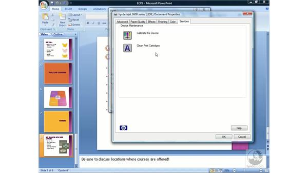 Setting print options: PowerPoint 2007 Essential Training