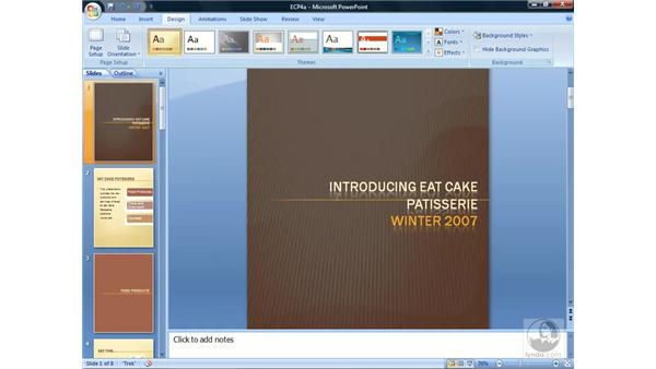 Using Page Setup: PowerPoint 2007 Essential Training