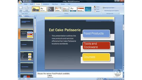 Creating your own themes: PowerPoint 2007 Essential Training