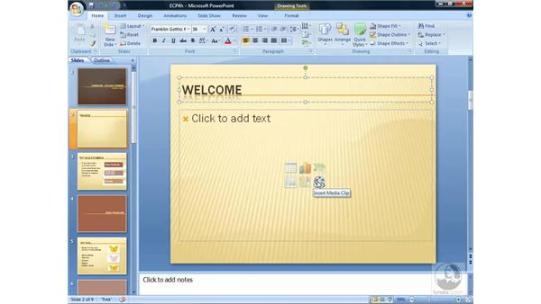Working with slide layouts: PowerPoint 2007 Essential Training