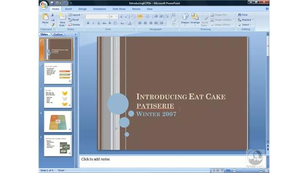 Using Find and Replace: PowerPoint 2007 Essential Training