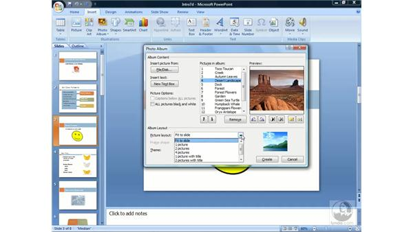 Creating a photo album: PowerPoint 2007 Essential Training