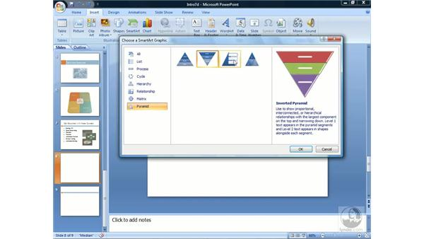 Using SmartArt: PowerPoint 2007 Essential Training