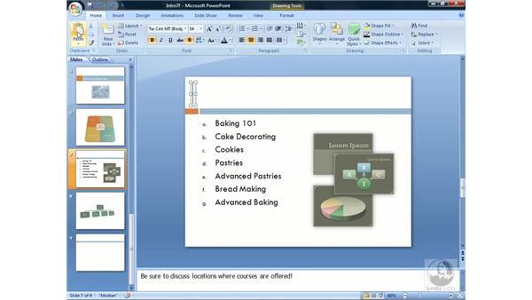 Using WordArt: PowerPoint 2007 Essential Training