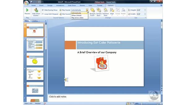 Using sound: PowerPoint 2007 Essential Training