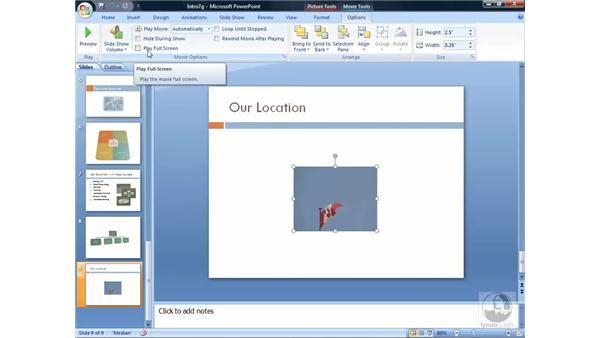 Using video: PowerPoint 2007 Essential Training