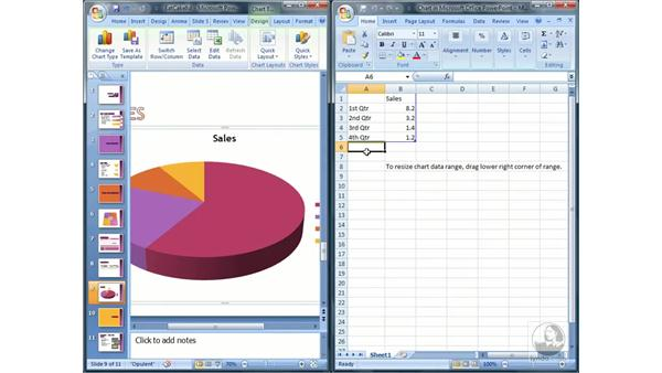 Inserting charts: PowerPoint 2007 Essential Training