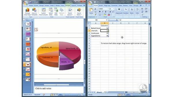 Editing charts and data: PowerPoint 2007 Essential Training