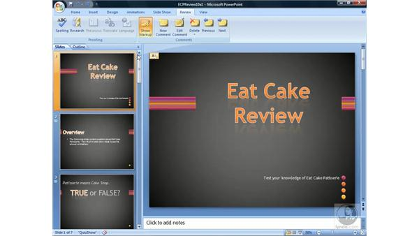 Using comments: PowerPoint 2007 Essential Training