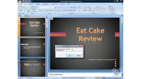 Sending a presentation: PowerPoint 2007 Essential Training