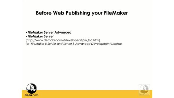 Web publishing options for FileMaker: Flash 8 and FileMaker 8.5 Integration
