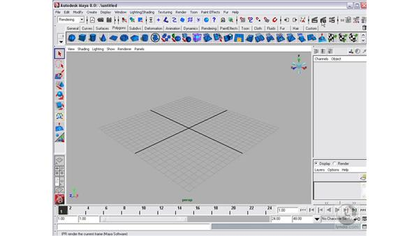 Starting Maya and the Maya interface : Maya 8 Essential Training
