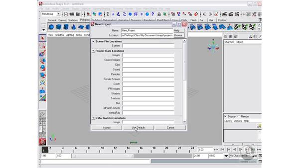 Projects and opening scenes: Maya 8 Essential Training
