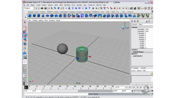 Selecting and moving objects : Maya 8 Essential Training