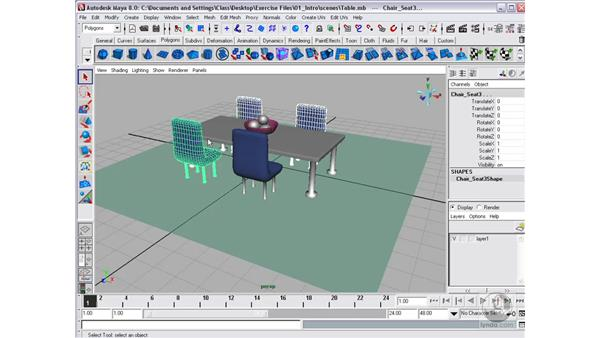 Showing and hiding layers: Maya 8 Essential Training