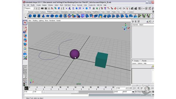 Templates and selection masks: Maya 8 Essential Training