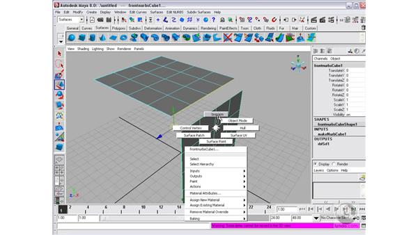 Connecting surfaces with Fillets: Maya 8 Essential Training