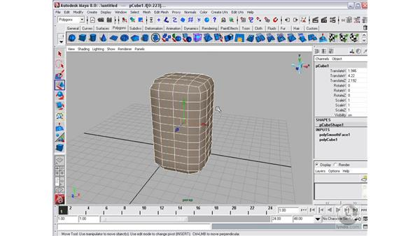 Editing polygons: Maya 8 Essential Training