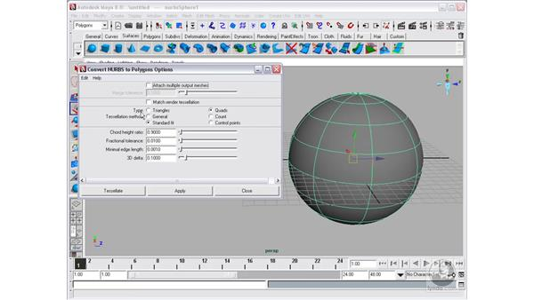 Converting surfaces: Maya 8 Essential Training