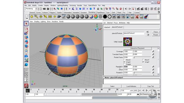 Editing shaders and applying maps: Maya 8 Essential Training