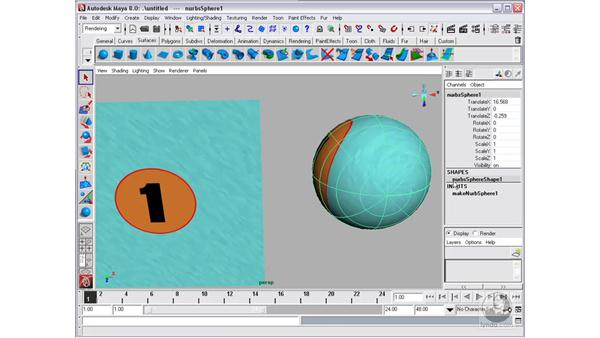 UV mapping and textures: Maya 8 Essential Training